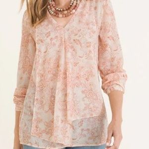Chicos Paisley Top size 3 (1x)